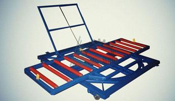 Тележка рельсовая с поворотной роликовой платформой ТРП-1,0-0,65х2,5-250(+/-10)-2000