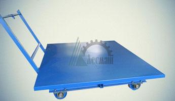 Тележка рельсовая большегрузная с плоской поворотной платформой ТРП-10,0-2,0х2,5-250