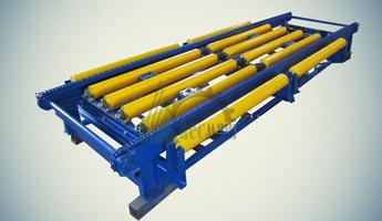 Конвейер перекрестный роликово-цепной КРЦП-1,5-3,8х1,6-440(480)