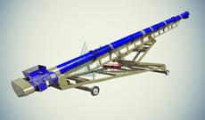 Конвейер шнековый мобильный КШМ-50-10000-200-4-45-1