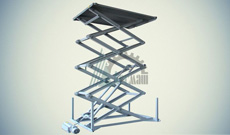 Ножничный гидравлический подъемный стол СПЭГ4-1,0-5,0-1,5*1,5