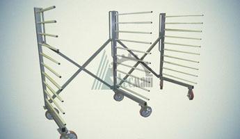 Тележка этажерочная раскладная КТЭ-5Г-3