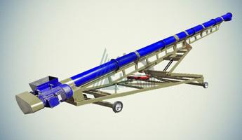 Конвейер винтовой шнековый мобильный КШМ-50-10000-200-4-45-1